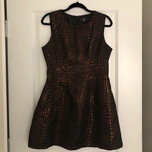 AX Paris Black and Gold Copper dress